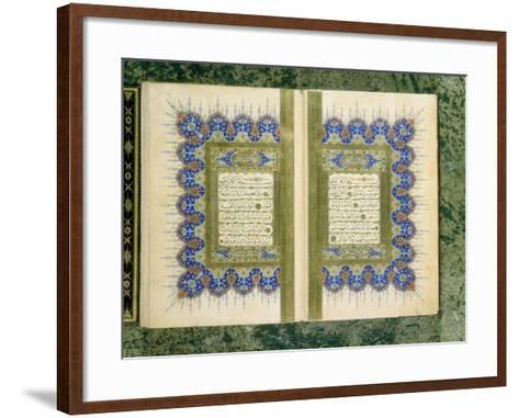 Double Page Spread from a Koran with Marginal Decoration, 1867--Framed Art Print