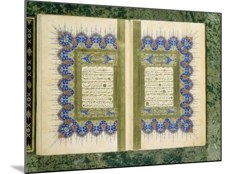 Double Page Spread from a Koran with Marginal Decoration, 1867--Mounted Giclee Print