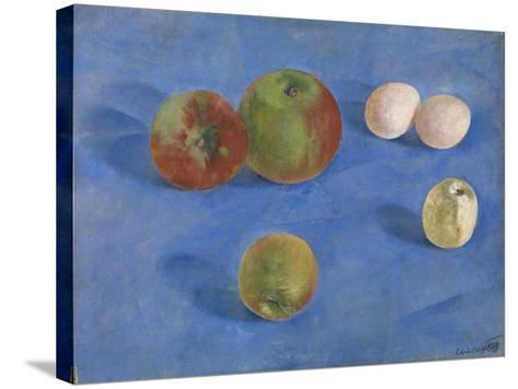 Still Life. Apples and Eggs, 1921-Kuzma Sergeyevich Petrov-Vodkin-Stretched Canvas Print