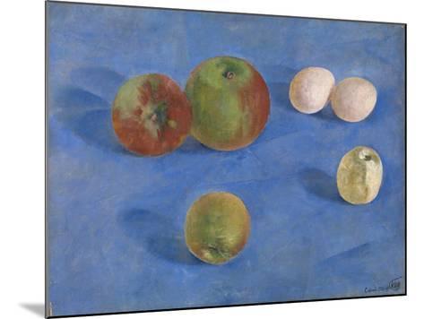 Still Life. Apples and Eggs, 1921-Kuzma Sergeyevich Petrov-Vodkin-Mounted Giclee Print