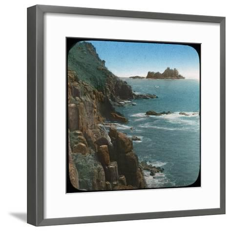 Land's End, Cornwall, Late 19th or Early 20th Century--Framed Art Print