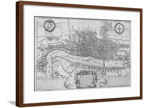 Map of the City of London and City of Westminster in C1600, 1708--Framed Art Print