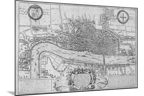 Map of the City of London and City of Westminster in C1600, 1708--Mounted Giclee Print