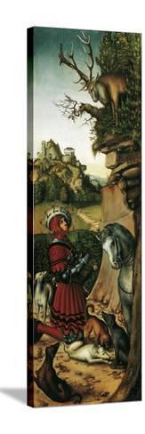 Saint Eustace-Lucas Cranach the Elder-Stretched Canvas Print