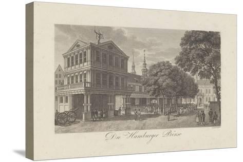 The Old Exchange in Hamburg, 1822-Johann Martin Friedrich Geissler-Stretched Canvas Print
