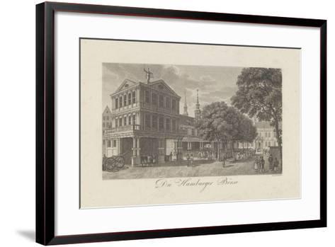 The Old Exchange in Hamburg, 1822-Johann Martin Friedrich Geissler-Framed Art Print