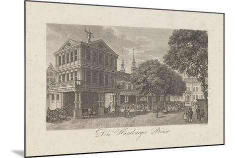 The Old Exchange in Hamburg, 1822-Johann Martin Friedrich Geissler-Mounted Giclee Print