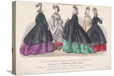 Five Women Wearing Spring and Summer Coats and Mantles, 1864-Rigolet Rigolet-Stretched Canvas Print