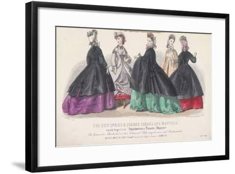 Five Women Wearing Spring and Summer Coats and Mantles, 1864-Rigolet Rigolet-Framed Art Print