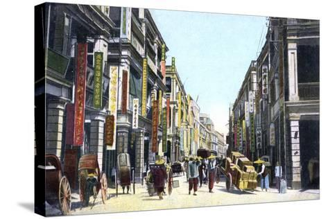 Queens Road Central, Hong Kong, China, C1900s--Stretched Canvas Print