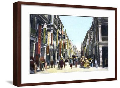 Queens Road Central, Hong Kong, China, C1900s--Framed Art Print