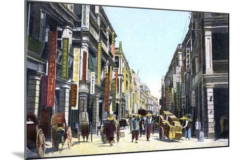 Queens Road Central, Hong Kong, China, C1900s--Mounted Giclee Print