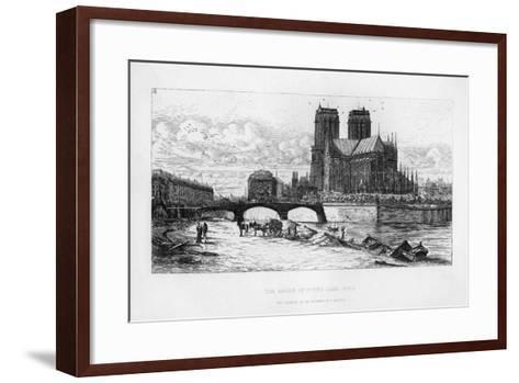 The Abside (Aps) of Notre Dame Cathedral, Paris, France, C19th Century-Charles Meryon-Framed Art Print