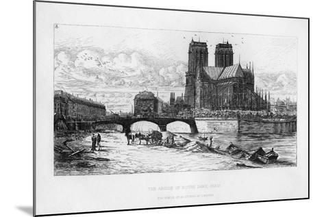 The Abside (Aps) of Notre Dame Cathedral, Paris, France, C19th Century-Charles Meryon-Mounted Giclee Print