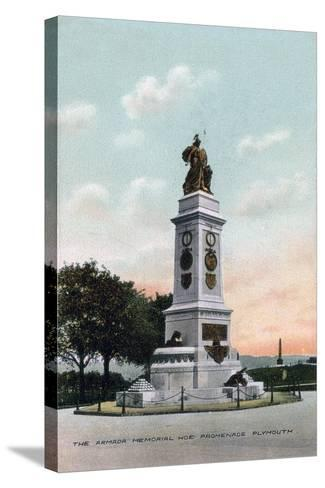 The Armada Memorial, Hoe Promenade, Plymouth, Devon, Early 20th Century--Stretched Canvas Print