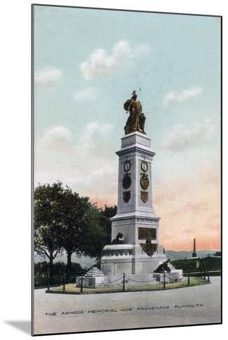 The Armada Memorial, Hoe Promenade, Plymouth, Devon, Early 20th Century--Mounted Giclee Print