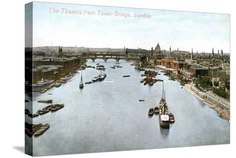 The River Thames, London, Early 20th Century--Stretched Canvas Print