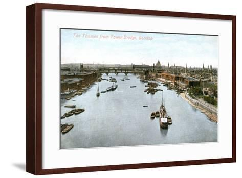 The River Thames, London, Early 20th Century--Framed Art Print