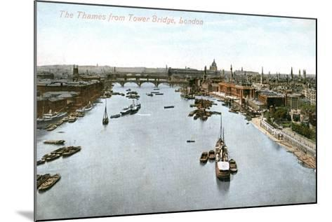 The River Thames, London, Early 20th Century--Mounted Giclee Print