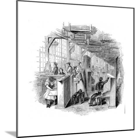 Broadwood's Piano Factory, Horseferry Road, Westminster, London, 1842--Mounted Giclee Print