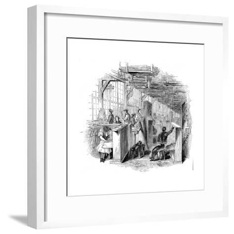 Broadwood's Piano Factory, Horseferry Road, Westminster, London, 1842--Framed Art Print