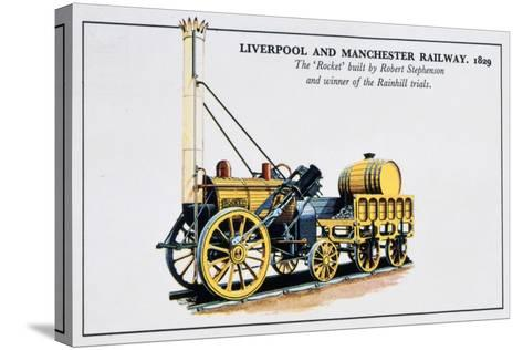 The Rocket, Liverpool and Manchester Railways, 1829--Stretched Canvas Print