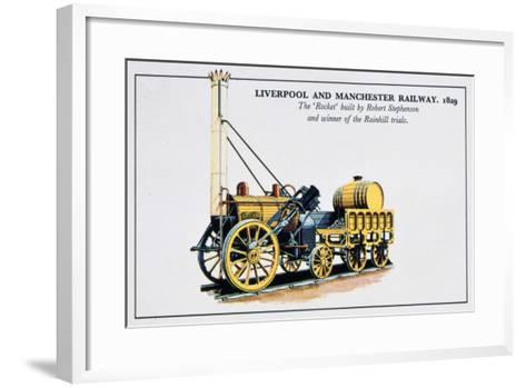 The Rocket, Liverpool and Manchester Railways, 1829--Framed Art Print