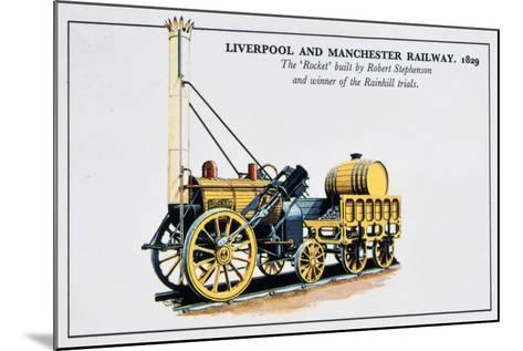 The Rocket, Liverpool and Manchester Railways, 1829--Mounted Giclee Print