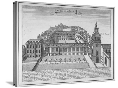 Christ's Hospital, City of London, 1700--Stretched Canvas Print