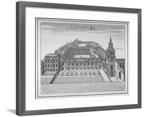 Christ's Hospital, City of London, 1700--Framed Art Print