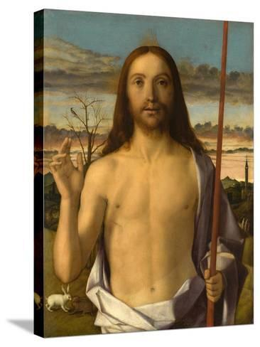 Christ Blessing-Giovanni Bellini-Stretched Canvas Print