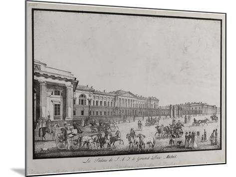 The Old Michael Palace in Saint Petersburg-Alexander Pluchart-Mounted Giclee Print