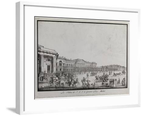 The Old Michael Palace in Saint Petersburg-Alexander Pluchart-Framed Art Print