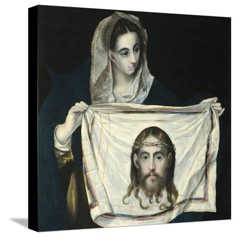Saint Veronica-El Greco-Stretched Canvas Print