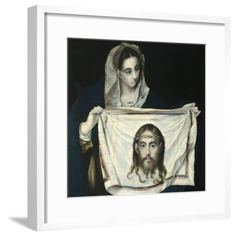 Saint Veronica-El Greco-Framed Art Print