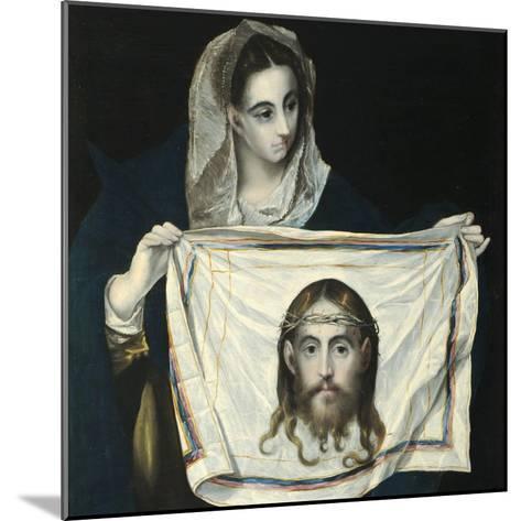 Saint Veronica-El Greco-Mounted Giclee Print