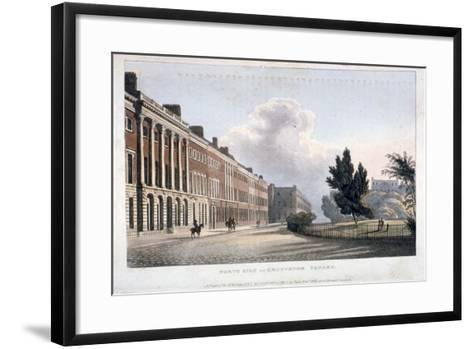 View of the North Side of Grosvenor Square, Westminster, London, 1813--Framed Art Print