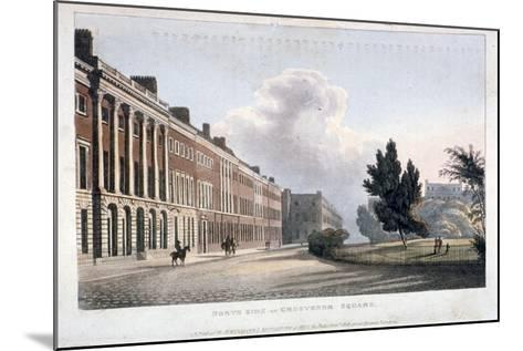 View of the North Side of Grosvenor Square, Westminster, London, 1813--Mounted Giclee Print