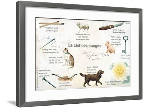 The Key of the Dreams, French Postcard, C1900--Framed Art Print