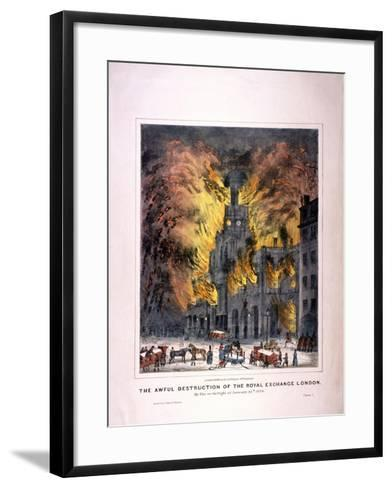Royal Exchange (2N) Fire, London, 1838--Framed Art Print