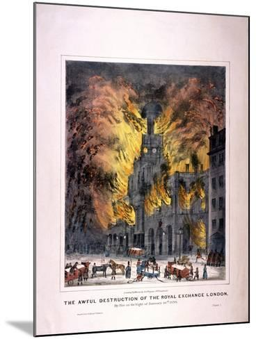 Royal Exchange (2N) Fire, London, 1838--Mounted Giclee Print