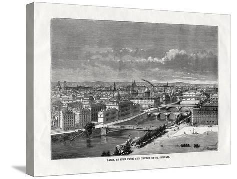 Paris, as Seen from the Church of St Gervais, France, 1879--Stretched Canvas Print