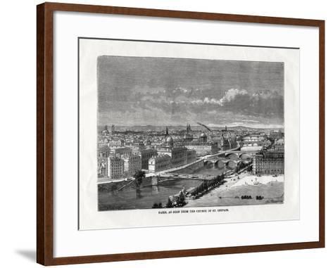 Paris, as Seen from the Church of St Gervais, France, 1879--Framed Art Print