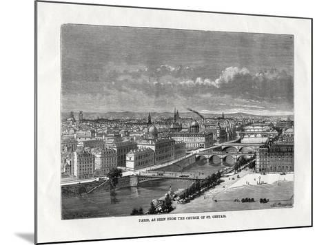 Paris, as Seen from the Church of St Gervais, France, 1879--Mounted Giclee Print