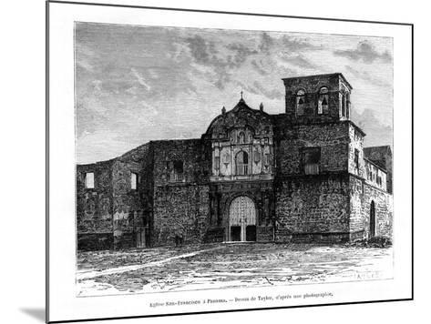 Church of San Francisco, Panama, Central America, 19th Century-Taylor-Mounted Giclee Print