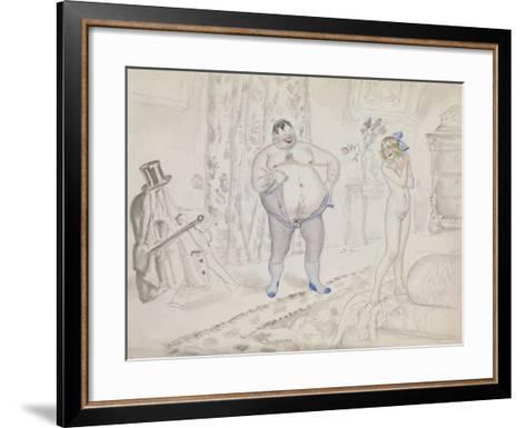 Late Night Rendezvous-Boris Michaylovich Kustodiev-Framed Art Print