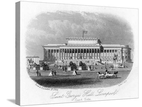 Saint George's Hall, Liverpool, 1 January 1875--Stretched Canvas Print