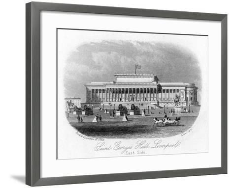 Saint George's Hall, Liverpool, 1 January 1875--Framed Art Print