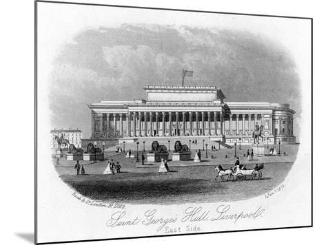 Saint George's Hall, Liverpool, 1 January 1875--Mounted Giclee Print