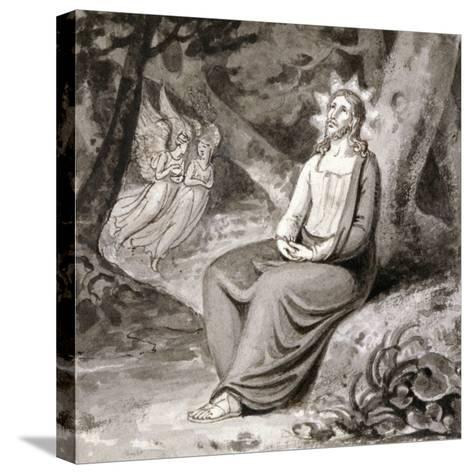 Christ in the Garden with Angels, 19th Century--Stretched Canvas Print